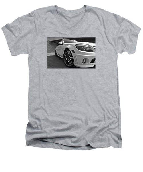 Low Profile Men's V-Neck T-Shirt by Linda Bianic
