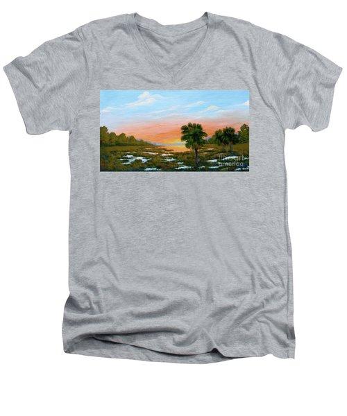 Lowcountry Sunrise Men's V-Neck T-Shirt
