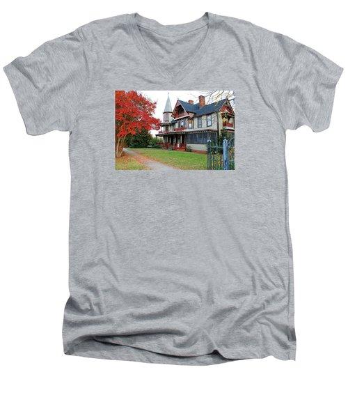 Lowenstein-henkel House Men's V-Neck T-Shirt by Cynthia Guinn