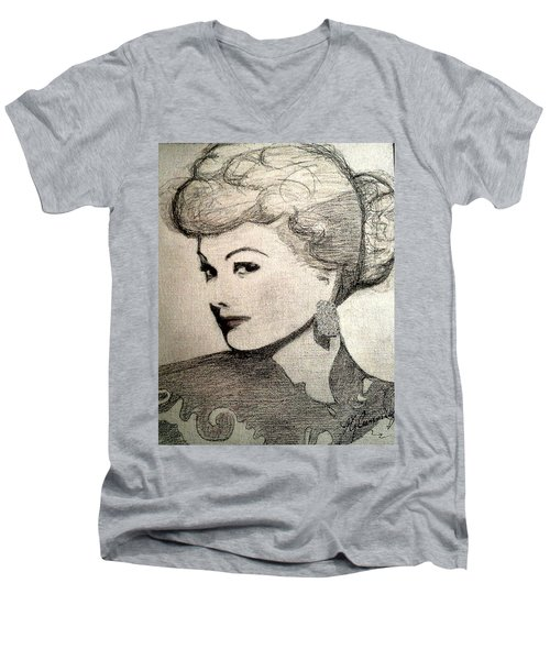 Lucille Ball Men's V-Neck T-Shirt