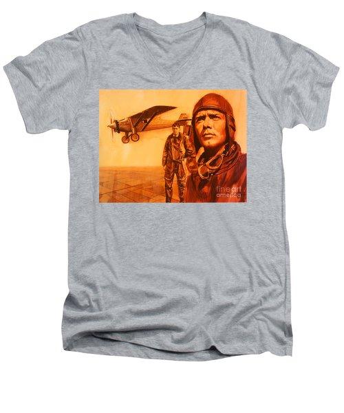 Lucky Lindy Men's V-Neck T-Shirt