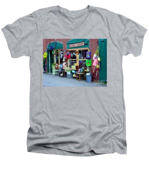 Lucky Seven Men's V-Neck T-Shirt