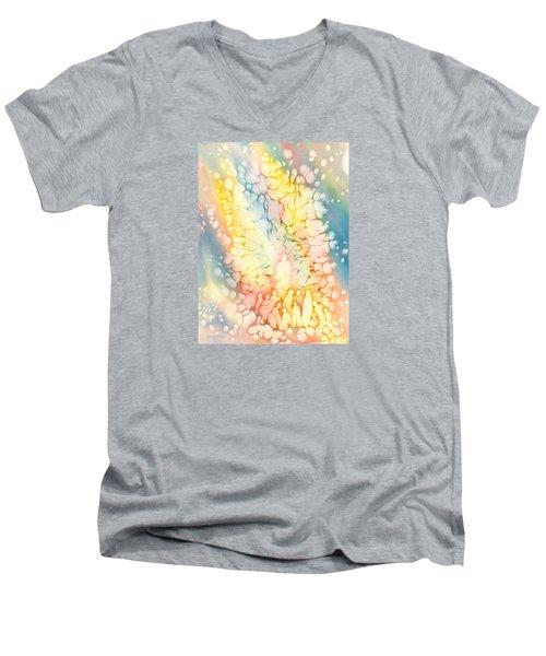 Luminaries Men's V-Neck T-Shirt by Lynda Hoffman-Snodgrass