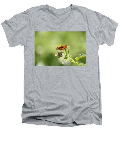 Men's V-Neck T-Shirt featuring the photograph Lunch Time by Amy Gallagher