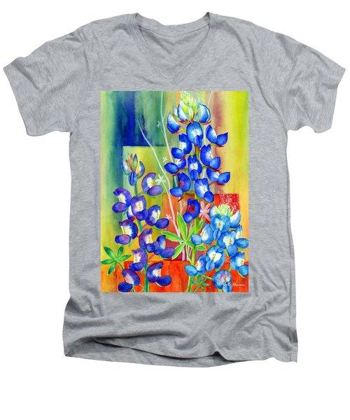 Lupinus Texensis Men's V-Neck T-Shirt