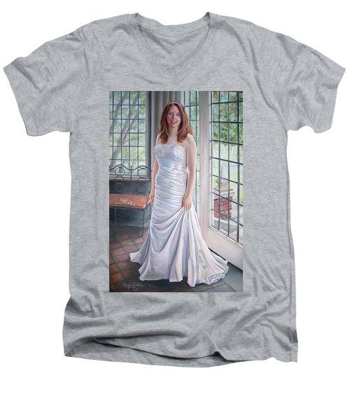 Lydia's Wedding Portrait Men's V-Neck T-Shirt