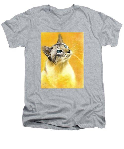 Lynx Point Siamese Men's V-Neck T-Shirt by VLee Watson