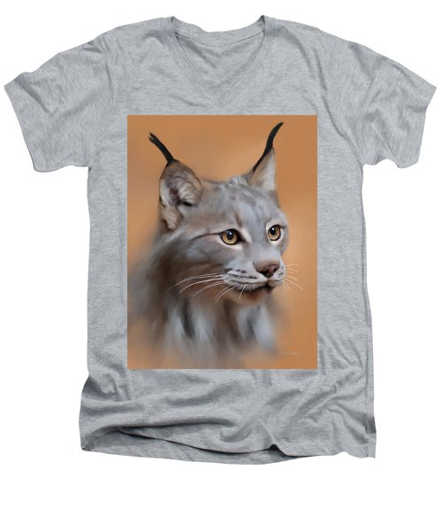 Lynx Portrait Men's V-Neck T-Shirt