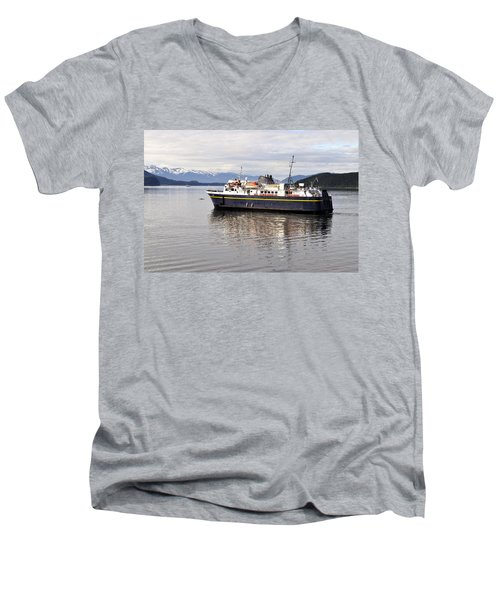 Men's V-Neck T-Shirt featuring the photograph M/v Leconte by Cathy Mahnke