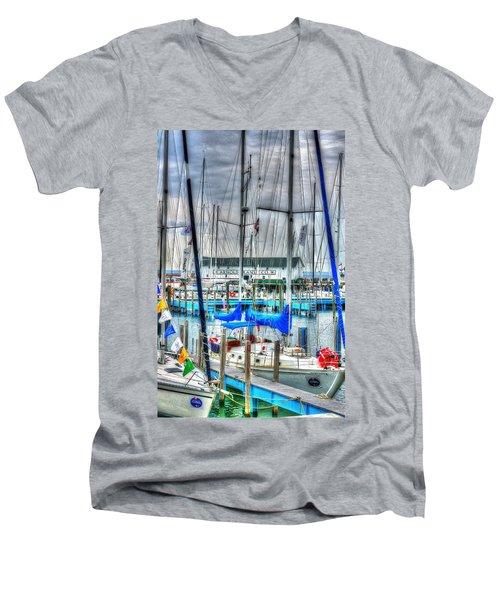 Mackinac Island Harbor Men's V-Neck T-Shirt