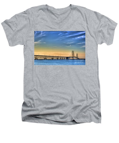 Mackinac Sunset Men's V-Neck T-Shirt