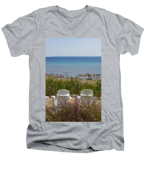 Mackinac View Men's V-Neck T-Shirt