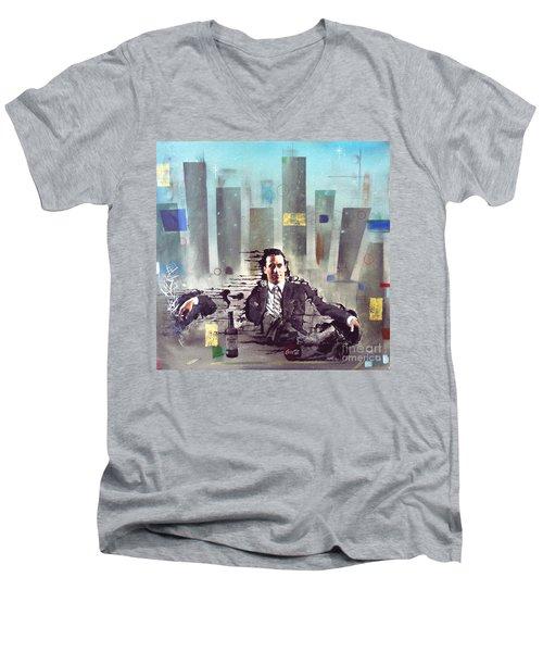 Mad Men Disintegration Of Don Draper Men's V-Neck T-Shirt