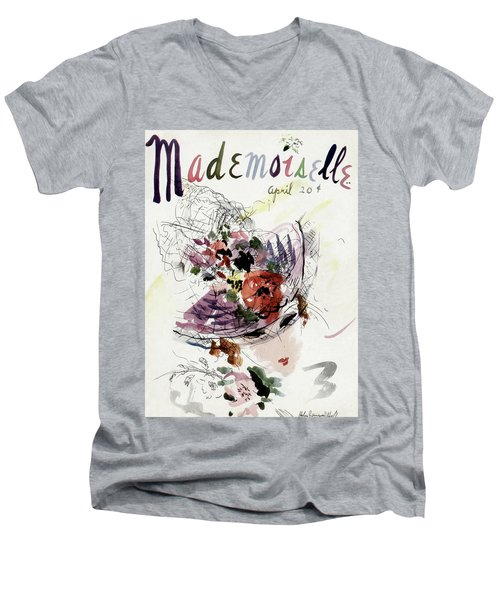 Mademoiselle Cover Featuring An Illustration Men's V-Neck T-Shirt