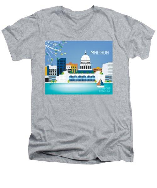 Madison Men's V-Neck T-Shirt by Karen Young