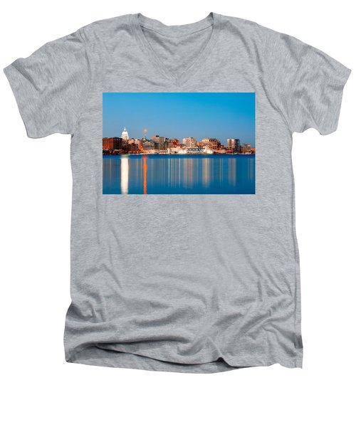 Madison Skyline Men's V-Neck T-Shirt