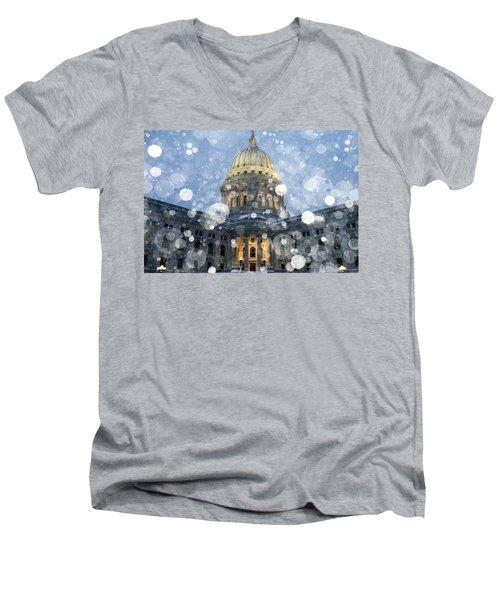 Madisonian Winter Men's V-Neck T-Shirt