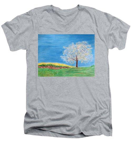 Magical Wish Tree Men's V-Neck T-Shirt by Sonali Gangane