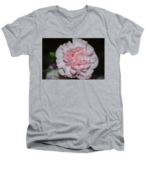Magnetic Pink Men's V-Neck T-Shirt by Sonali Gangane