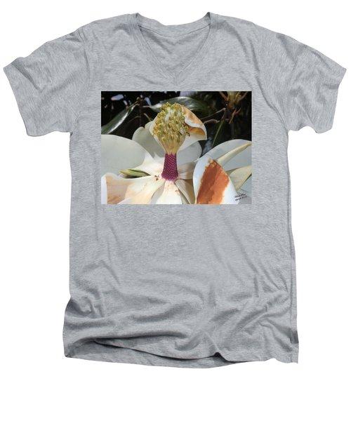 Magnolia Magnicence  Men's V-Neck T-Shirt