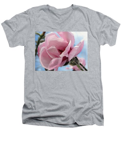 Magnolia In Spring Men's V-Neck T-Shirt