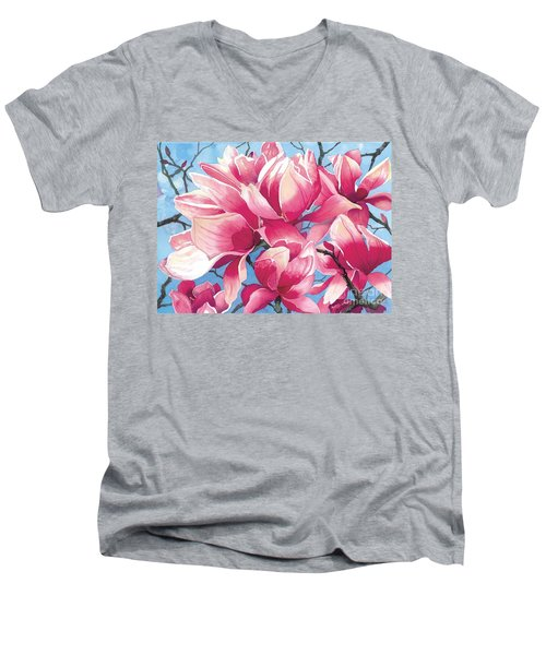 Magnolia Medley Men's V-Neck T-Shirt