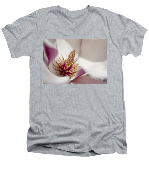 Magnolia Men's V-Neck T-Shirt by Steven Ralser
