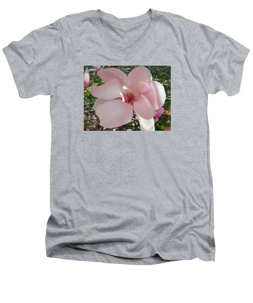 Magnolia Surprise Men's V-Neck T-Shirt by Emmy Marie Vickers
