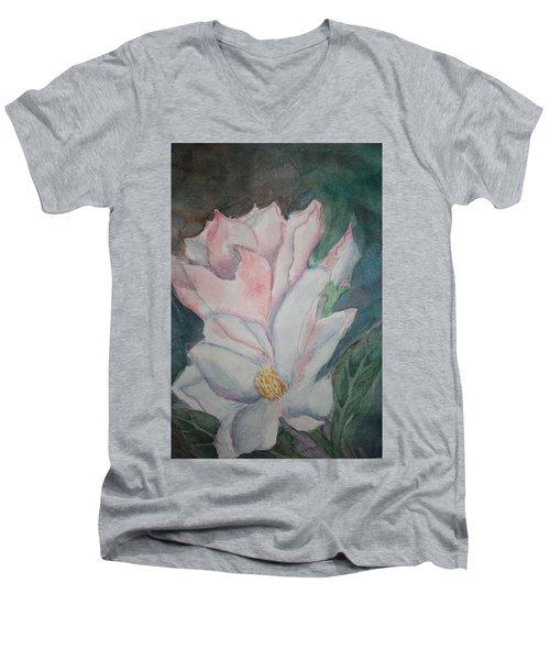 Magnolias Men's V-Neck T-Shirt