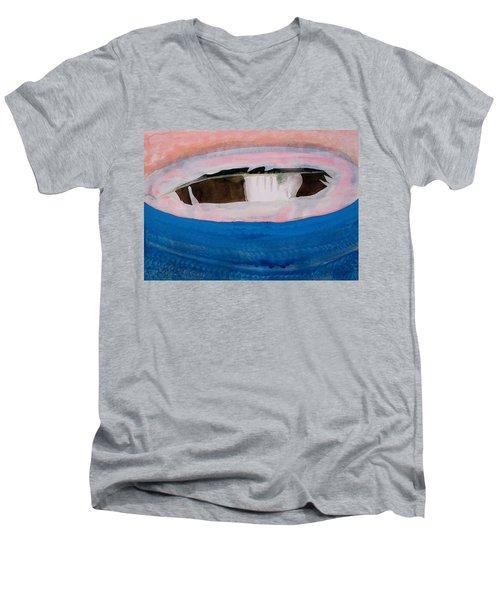 Magpie Original Painting Men's V-Neck T-Shirt