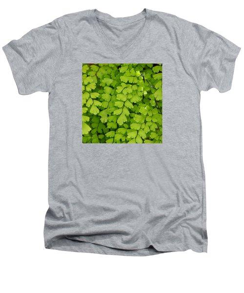 Maidenhair Fern Men's V-Neck T-Shirt by Art Block Collections