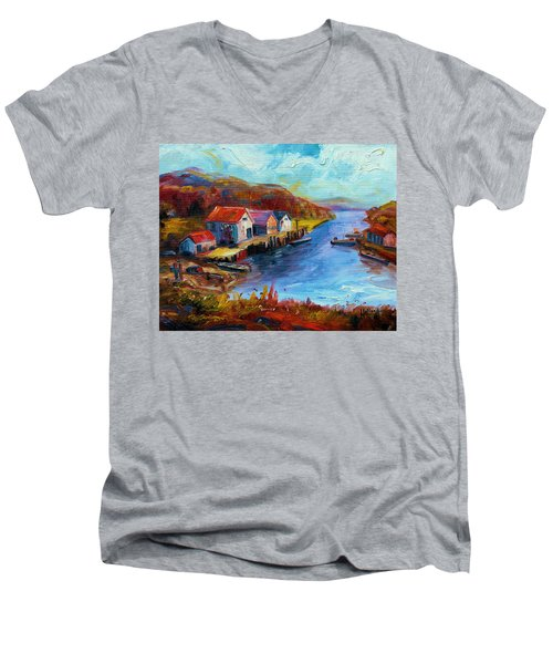 Maine Harbor Men's V-Neck T-Shirt