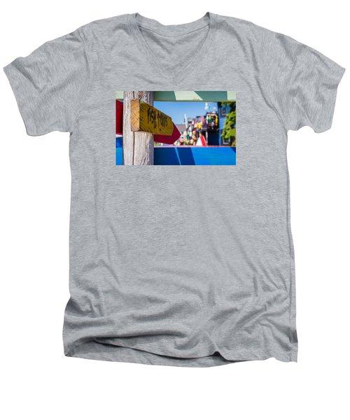 Maine Lobster Men's V-Neck T-Shirt