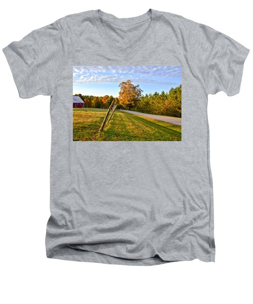 Maine Morning Men's V-Neck T-Shirt