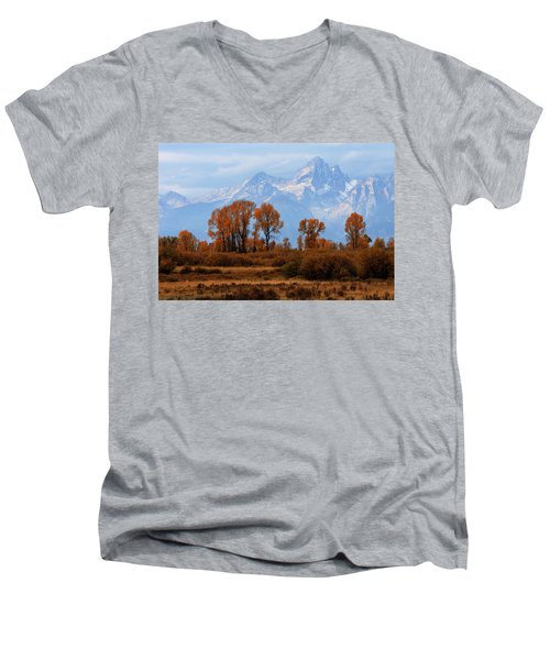 Majestic Backdrop Men's V-Neck T-Shirt by David Andersen