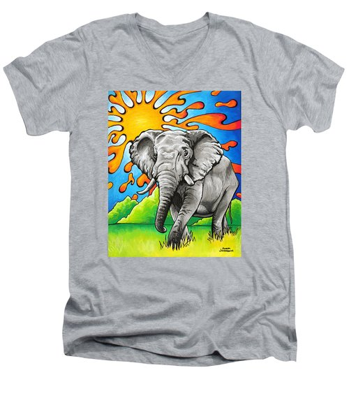 Majestic Elephant Men's V-Neck T-Shirt