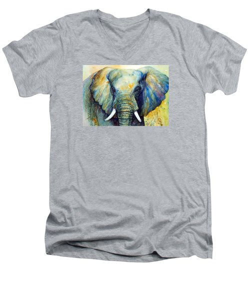 Majestic-iii Dappled Men's V-Neck T-Shirt