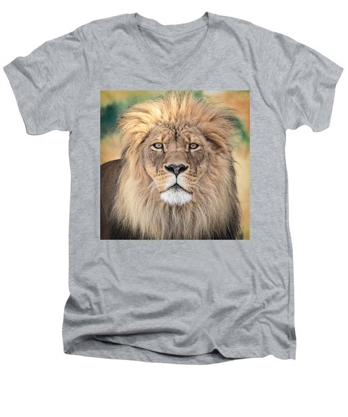 Majestic King Men's V-Neck T-Shirt