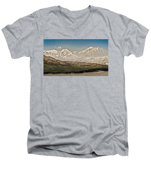 Majestic Mount Mckinley Men's V-Neck T-Shirt
