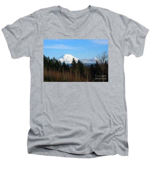 Majestic Mount Rainier Men's V-Neck T-Shirt