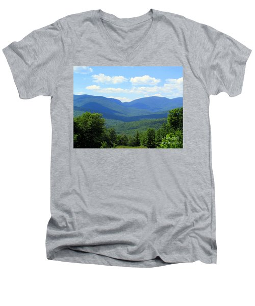 Majestic Mountains Men's V-Neck T-Shirt by Elizabeth Dow