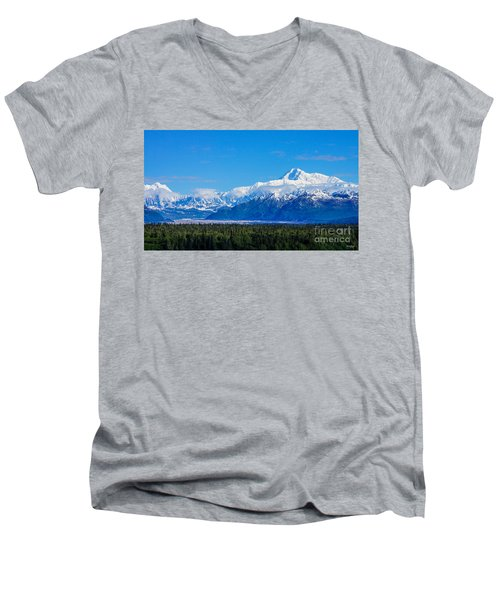 Majestic Mt Mckinley Men's V-Neck T-Shirt