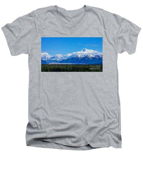Majestic Mt Mckinley Men's V-Neck T-Shirt
