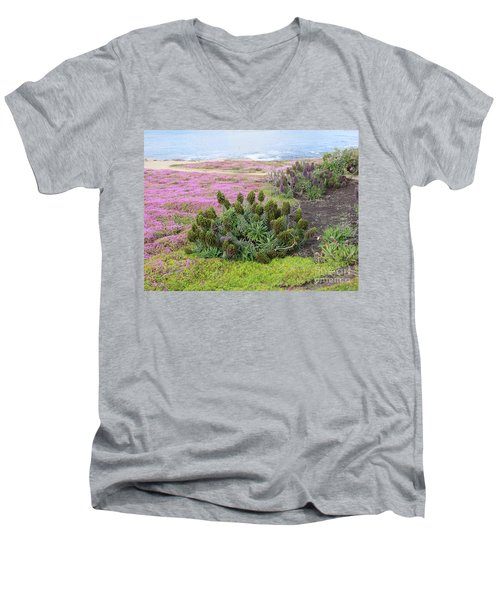 Majestic Shoreline Men's V-Neck T-Shirt by Joseph Baril
