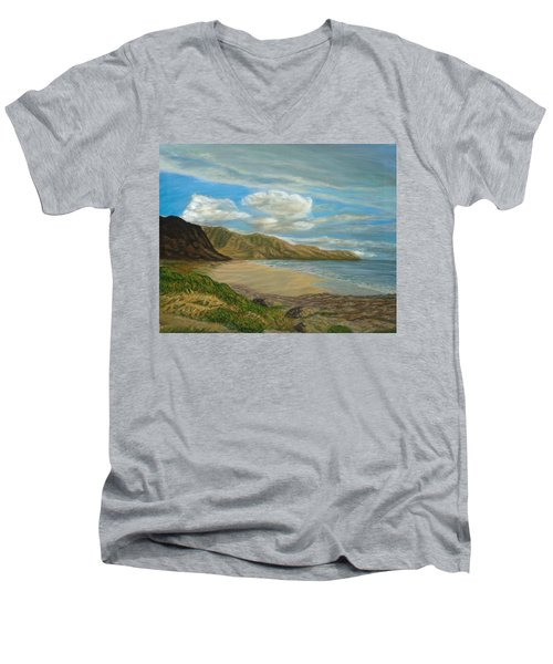 Makaha Beach Men's V-Neck T-Shirt