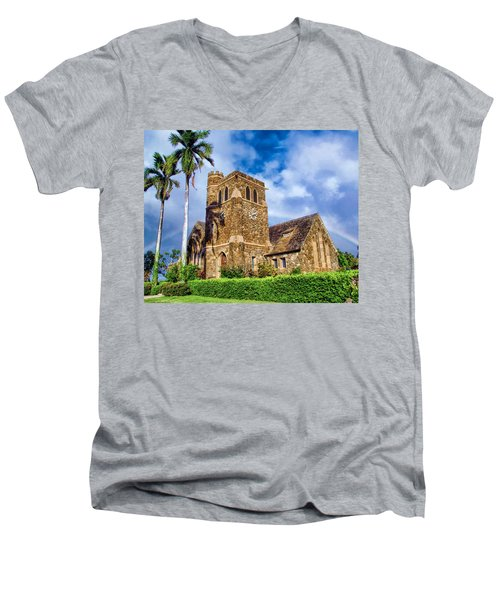 Makawao Union Church 1 Men's V-Neck T-Shirt