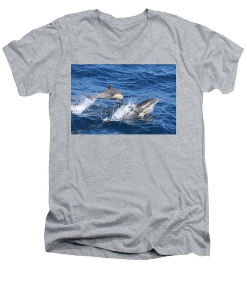 Make A Splash Men's V-Neck T-Shirt by Shoal Hollingsworth