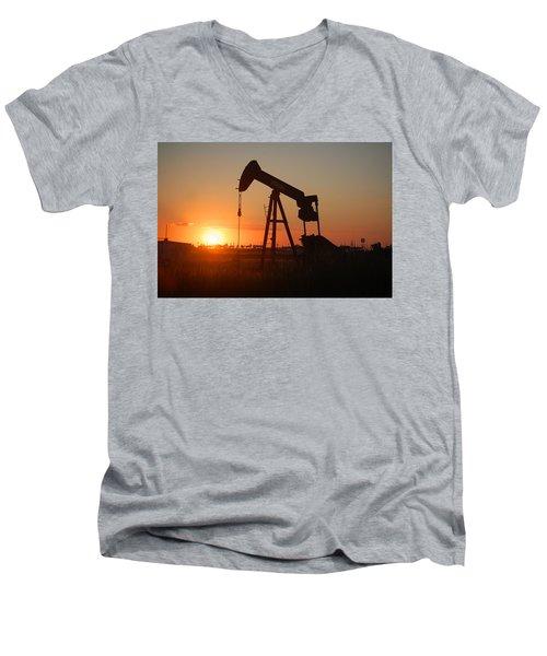 Making Tea At Sunset 2 Men's V-Neck T-Shirt by Leticia Latocki