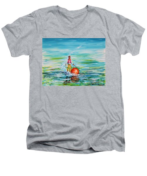 Strolling On The Water Men's V-Neck T-Shirt