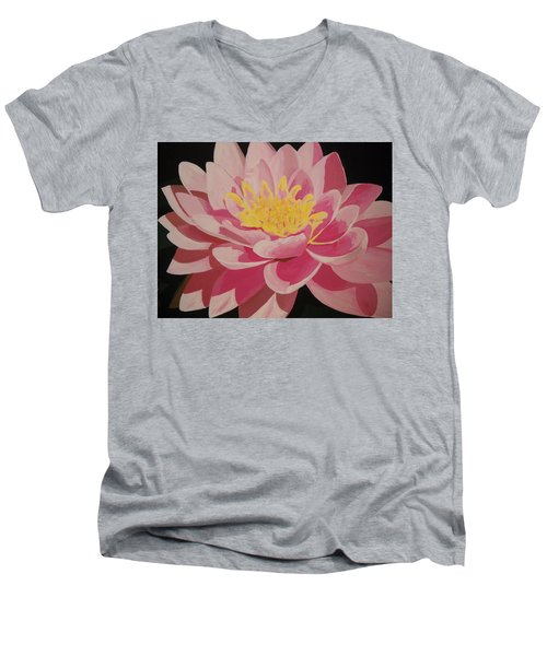Mama's Lovely Lotus Men's V-Neck T-Shirt